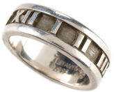 Tiffany & Co. AUTH VINTAGE Sterling Roman Numeral Atlas Band Ring Sz 4 MHL AP0752