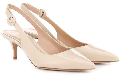 Gianvito Rossi Exclusive to mytheresa.com – Anna patent leather slingback pumps