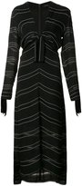 Proenza Schouler knot detail pinstripe dress - women - Silk/Acetate/Viscose - 4
