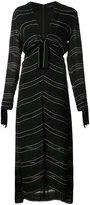 Proenza Schouler knot detail pinstripe dress