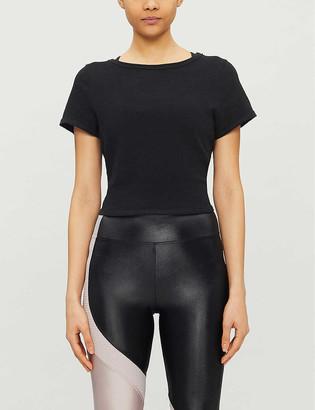 Lorna Jane Open-back cotton T-shirt