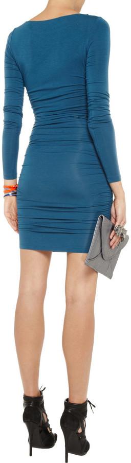 Tart Veronica ruched stretch-jersey mini dress