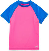 Speedo Solid Rash Guard Set - Big Kid