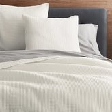 Crate & Barrel Nora Cream Quilts and Pillow Sham