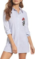 Sam Edelman Women's Embroidered Sleep Shirt