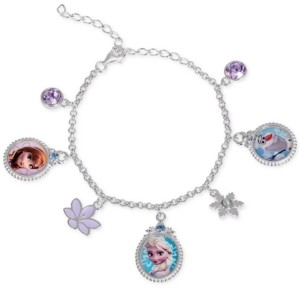 Disney Children's Frozen Character Charm Bracelet in Sterling Silver