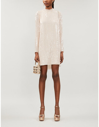 Selfridges Low-back sequinned dress
