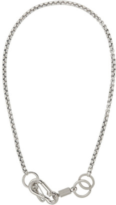 Martine Ali Silver Myles Boxer Wrap Chain Necklace