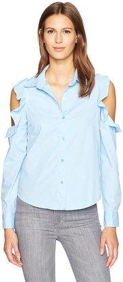 Blu Pepper Women's Cold Shoulder Blouse