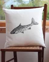Bird Salmon Screen Print Cushion Cover