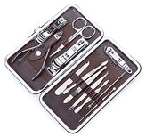 Corewill Nail Clippers Set Stainless Steel Personal Manicure & Pedicure Travel & Grooming Kit 12 in 1