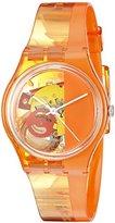 Swatch Unisex GO116 Bloody Orange Analog Display Quartz Orange Watch