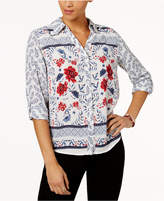 Style&Co. Style & Co Petite Printed Shirt, Created for Macy's