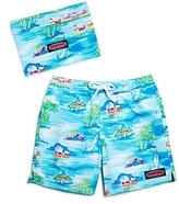Vineyard Vines Boys' Beach Hut Scenic Bungalow Swim Trunks - Big Kid