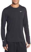 Nike Men's 'Contour' Long Sleeve Dri-Fit Running T-Shirt