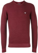 Armani Jeans logo patch pullover