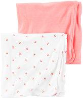 Carter's 2-Pack Babysoft Neon Swaddle Blankets