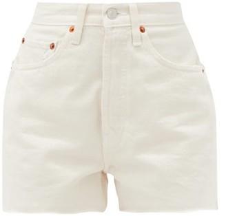 RE/DONE 50s Cut-off Denim Shorts - Ivory