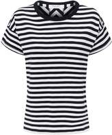 Rag & Bone Kat Stripe Split Back T-Shirt