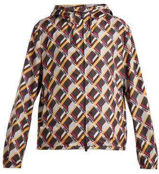 Fendi Mania Cube-print Hooded Jacket - Womens - Multi