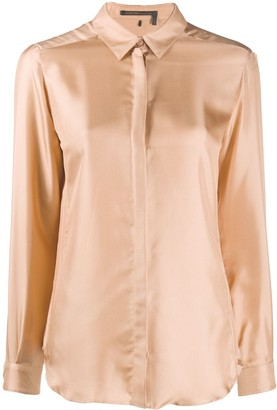 Agnona Long Sleeved Satin Shirt