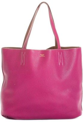 Hermes Dark Pink Clemence Leather Double Sens 45