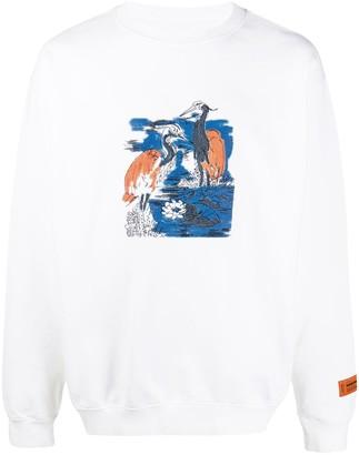 Heron Preston Heron-Print Sweatshirt