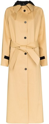 Kassl Editions Hooded Trench Coat