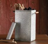Pottery Barn Galvanized Metal Charcoal Bin