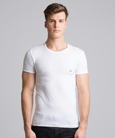 Emporio Armani Striped Eagle T-Shirt