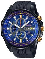 Casio Efr-549rbp-2aer Edifice Red Bull Resin Strap Watch, Black/blue