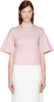 Edit Pink Flute Sleeve T-shirt