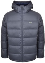 Lacoste Full Zip Padded Jacket Grey