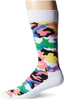 Happy Socks Men's Combed Cotton 1/2 Terry Crew - Bark (Pack of 1)
