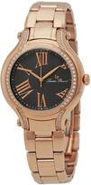 Lucien Piccard Black & Rose Gold Elisia Bracelet Watch - Women