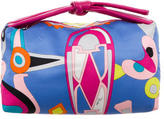 Emilio Pucci Leather-Accented Printed Handle Bag