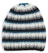 Portolano Women's Striped Knit Slouchy Beanie