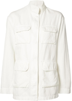 Nili Lotan Relaxed Fit Military Jacket - White