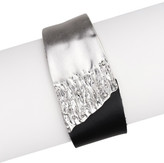 Saachi Black & Silver Wild Ways Genuine Leather Bracelet