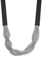 RJ Graziano Pave Twist Tie Choker Necklace