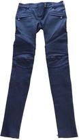 Balmain Leather slim pants
