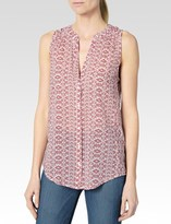 Paige Bonnie Top - White / Bruschetta Sadie Print