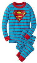 Hanna Andersson Boy's 'Dc Comics(TM) Superman' Organic Cotton Fitted Two-Piece Pajamas