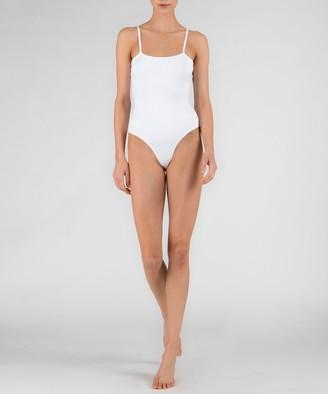 Atm Pima Cotton Cami Bodysuit - White