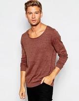 Asos Scoop Neck Sweater in Rust Twist Cotton