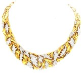 Gilbert Albert 18K Yellow Gold Diamond Necklace