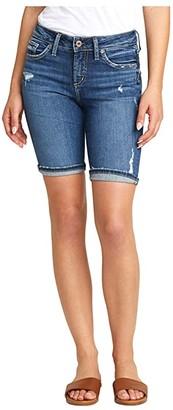 Silver Jeans Co. Suki Mid-Rise Curvy Fit Bermuda Shorts L53940SGX350 (Indigo) Women's Shorts