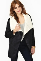 Nasty Gal Great Heights Shearling Jacket