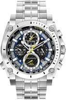 Bulova Precisionist Chronograph Stainless Steel Bracelet Mens Watch