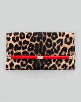 Diane von Furstenberg 440 Leopard-Print Calf Hair Clutch Bag (Stylist Pick!)